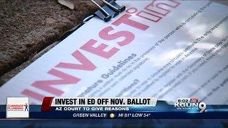 Arizona court to explain why it kept tax boost off ballot