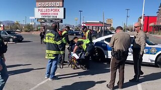 Sheriff's deputy hit, dragged by suspect in Pahrump