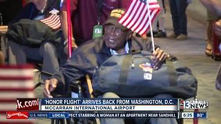 Veterans return from Honor Flight