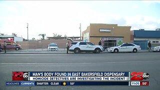 Man's body found in East Bakersfield marijuana dispensary