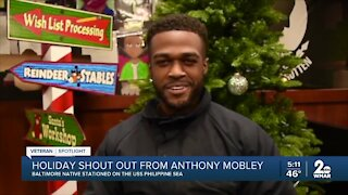 Holiday shout out from Anthony Mobley