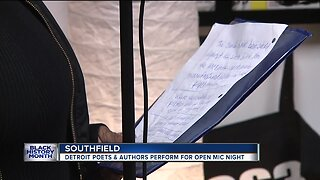 Detroit poets & authors perform open mic night during Black History Month
