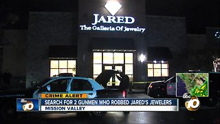 Armed men sought in Mission Valley jewelry store robbery