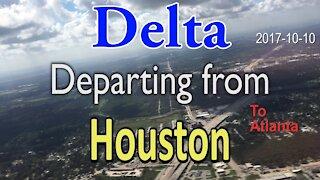 Delta Airlines flight depart from Houston