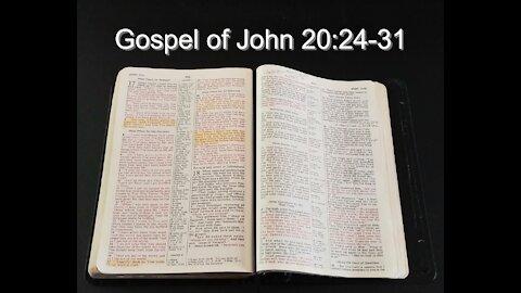 Gospel of John 20:24-31