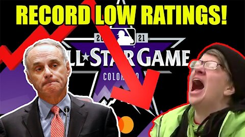 MLB All Star Game BOMBS to RECORD LOW RATINGS after MLB BENT THE KNEE to politics!