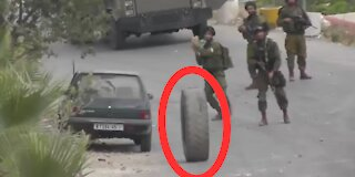 Instant Karma: Israeli Army vs. Palestinian Tire