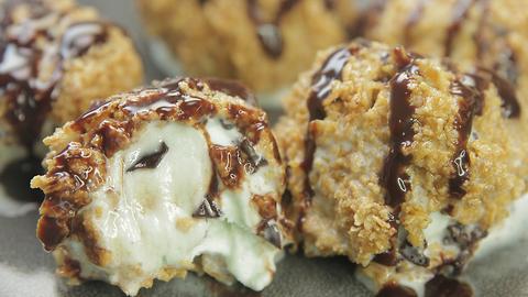 Fried Shamrock Shacke Ice Cream Balls