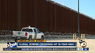 CBP: illegal border crossings hit 12-year high