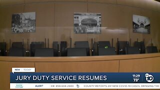 Jury duty service resumes in San Diego courts