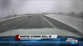 Winter weather could make for slick roads in Southern Arizona