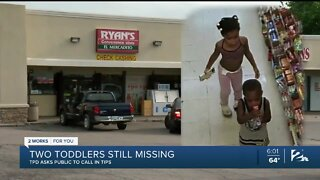Search continues for two missing toddlers
