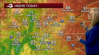 Flooding a possibility in the mountains today, cooler air for Denver