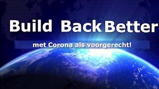 Build Back Better met als voorgerecht Corona