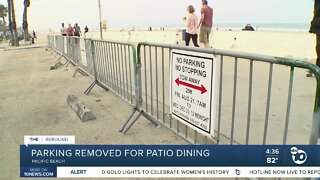 Parking removed for patio dining
