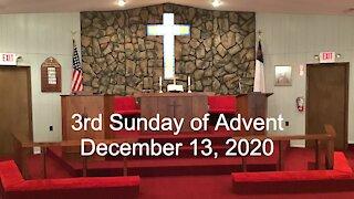 3rd Sunday of Advent Worship - December 13, 2020