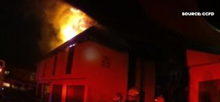 Fire displaces several families after fire in Las Vegas