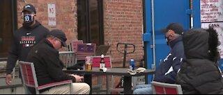 Detroit health officials patrol downtown to ensure fans celebrate safely