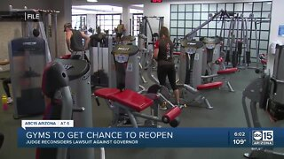 Arizona gyms get chance to reopen
