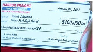 South Fork High School teacher surprised with $100,000