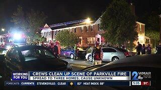 Crews clean up after Parkville fire