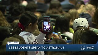 Students from Lee County Schools speak to astronauts