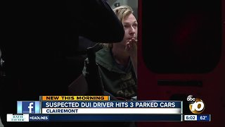 Suspected drunk driver slams into row of parked cars in Clairemont