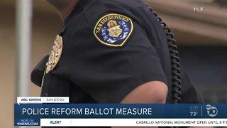Police reform ballot measure