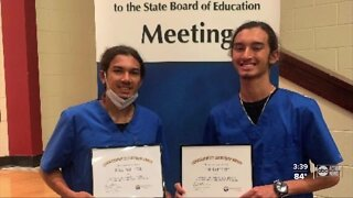 Brothers honored for their work together on the front lines during COVID-19 pandemic