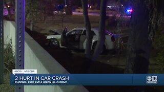 FD: 2 critically injured in 2-car crash near 43rd Avenue and Union Hills Drive