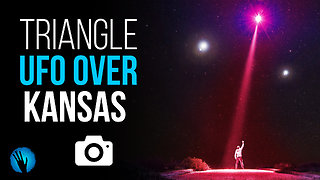 Mysterious triangle UFO flying low over Kansas