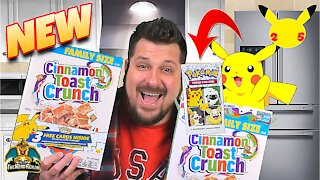 *NEW* Exclusive Pokemon Cards in General Mills Cereal   Pokemon 25th Anniversary   Pokemon Opening