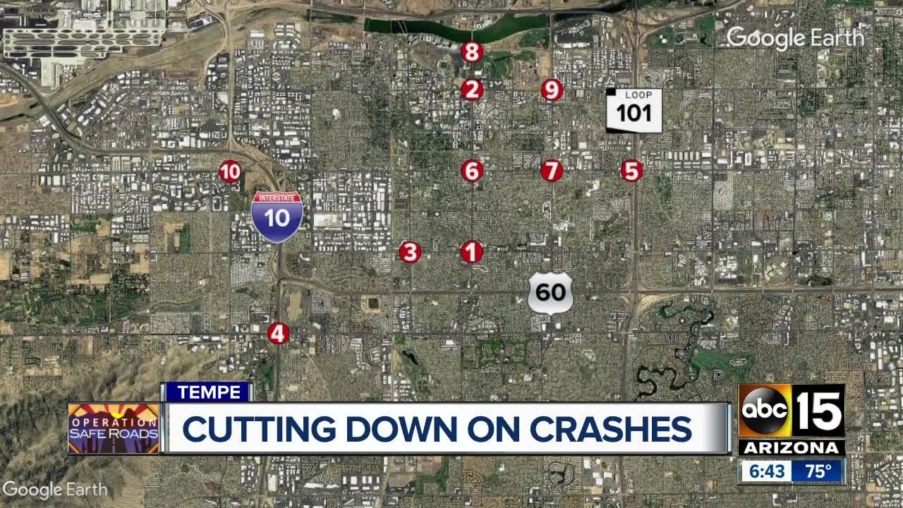 Tempe police department receives grant to help reduce crashes