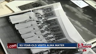 92-year old returns to Omaha