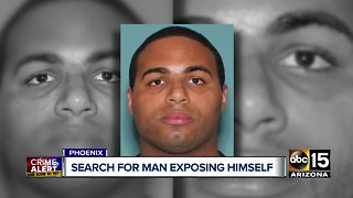 Phoenix police searching for man exposing himself