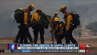 Elsmere Fire ignites in Santa Clarita
