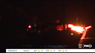 Boat catches fire on Fort Myers Beach