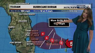 11 a.m. Hurricane Dorian update - 9/1/19