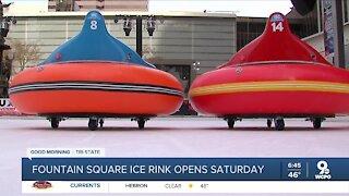 Fountain Square ice rink opens Saturday