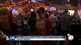 Local democrats hold debate night watch party