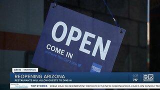 Restaurants beginning to open dining rooms Monday