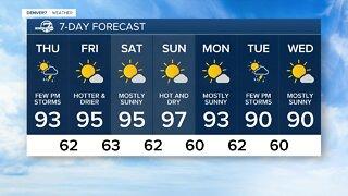 Severe thunderstorm threat ends for Denver area