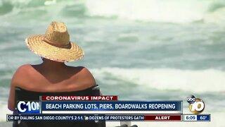 City reopens beach parking lots, piers, boardwalks