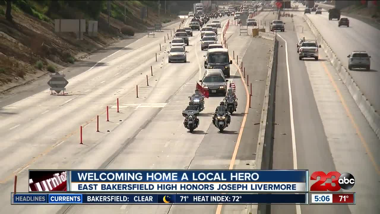 Welcoming home a local hero