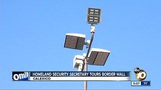 Homeland Security Secretary tours border wall