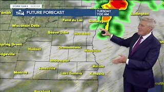 Tuesday is hot and humid with highs in the 90s