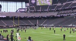 Las Vegas Raiders first time inside Allegiant Stadium