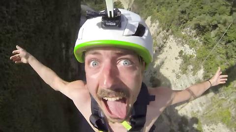 Hilarious Epic Reaction on Adrenaline Rope Swing
