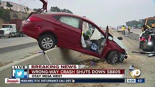 Woman injured in wrong-way crash on I-805