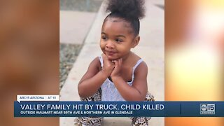 Valley family hit by truck, child killed